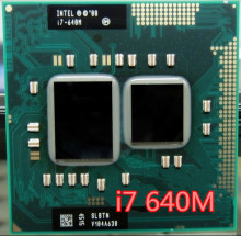 Intel core I7 640m I7-640m i7 640M Dual Core 2.8GHz L3 4M 2800 Mhz BGA1288 CPU Processor works on HM55 640M free shipping(China)