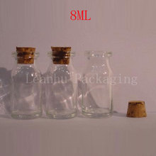 8ml Transparent Glass Bottle With Cork,8cc Cute Little Bottle ,Toner/Perfume/Water Packaging Container,Empty Cosmetic Container