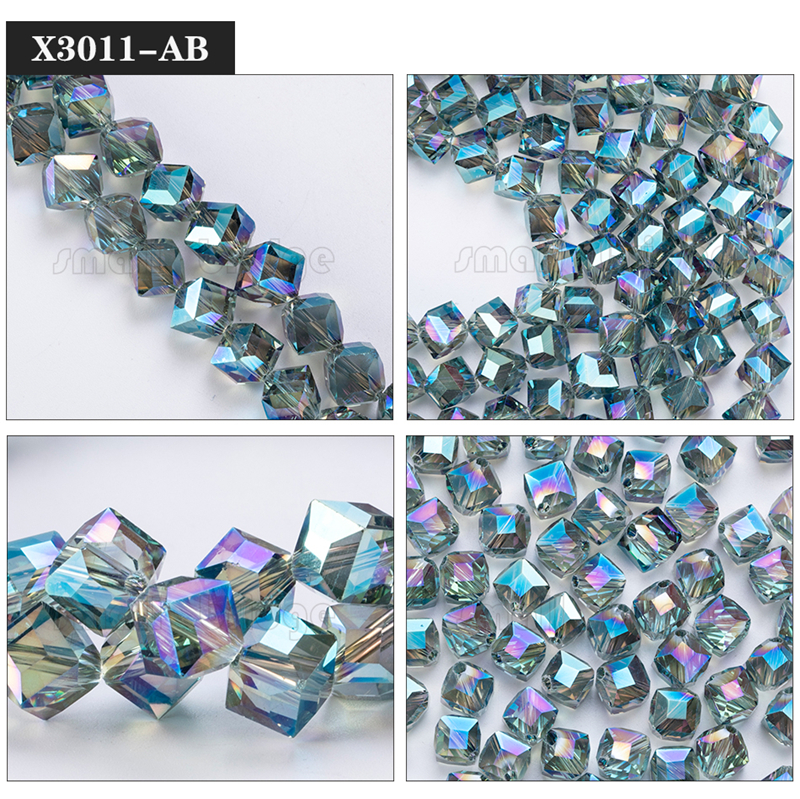 Square Glass Beads (12)