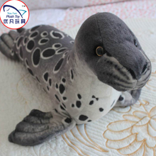 Realistic design seal stuffed toy plush animal kids Aquarium souvenirs gift toy 55# gray seal