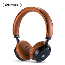 REMAX 300HB Touch Bluetooth V4.1 Headset Leather Ear Pad Remote Headphone Powerful 3D Sound Bass with NFC 3.5mm jack microphone(China)