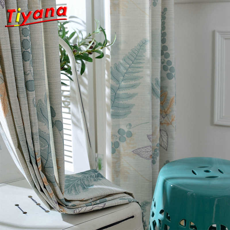 Semi Blind Curtain Fashion Geometric Custom Curtain Plant Curtains for Living Room Bedroom Shading Nordic Type Style WP088 *30