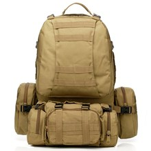 55L Outdoor Sport 3D Molle 600D Military nylon wearproof Tactical Backpack Travel Trekking Camping hiking Rucksack climbing Bag