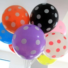 10pcs 12 inch 10 color inflatable latex Polka Dot balloons party decoration wedding birthday party decoration balloons air balls(China)