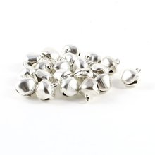 Newest Arrive 20 Pcs Christmas Jingle Bells 10 mm Silver Tone