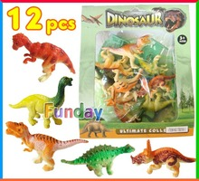 12pcs Toy Dinosaurs Set Jurassic Play Dinosaur Model Animal World Miniature Dragon Action Figures T-REX Best Gift for Boys