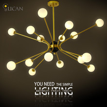 LICAN Modern Creative Branch LED Chandelier Retro Lamps Art Decoration Lights E27 Industrial Glass Chandelier For Restaurant
