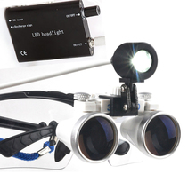Dental Equipment Surgical Dentists Magnifier Dental Loupes 3.5X420mm Surgical Glasses + Led Head Light Lamp CE&FDA Proved