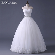 BANVASAC Free Shipping 2017 New Arrival Bridal Wedding Dress,Wedding Gown W0308(China)