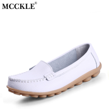 MCCKLE 2017 Women's Shoes Fashion Flat Comfortable Female Platform Ladies Casual Slip On Loafers Black Woman Peas Shoes Footwear