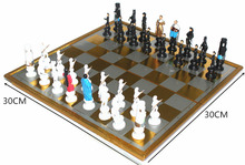 Foldable ChessBoard International Chess Game For Board Game Family Game Outdoor Friend Party Fun Cartoon Characters Chess Pieces