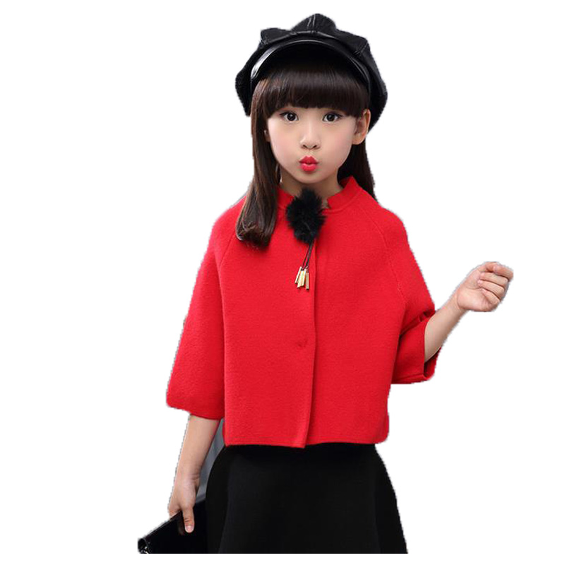 Children Clothing Girls Outerwear Spring Cotton Fashion Long-sleeved Round Solid Jackets For Girls 2017 New Arrivals Kids Coats<br><br>Aliexpress