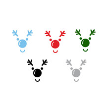 2017 New Year Merry Christmas Elk Deer Head Wall Sticker Home Shop Windows Decals Decor decal mual art waterproof posters