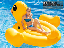 2017 Giant duck Inflatable  Ride-On Pool Toy Float inflatable big duck pool Swim Ring Holiday Water Fun Pool Toys with pump