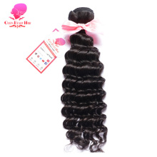QUEEN BEAUTY HAIR Indian Deep Wave Remy Hair Bundles Curly Weave Human Hair Natural Black Color Hair Shipping Free