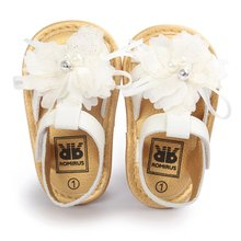 Cool Baby Sandals Shoes Skidproof Toddlers Infant Flower Shoe PU Leather Sandal white sandals