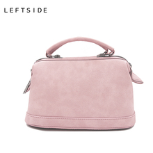 LEFTSIDE 2017 New Boston Bags Fashion Brand Women Handbags Small Shoulder Hand Bags PU Leather Handbag Messenger Bag Bolsa