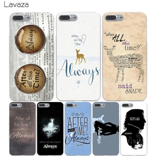 Lavaza After All This Time Harry potter Hard Transparent Cover Case for iPhone X 10 8 7 6 6S Plus 5 5S SE 5C 4 4S(China)