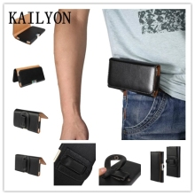 KAILYON 5.5'-5.7' Luxury Leather Men Waist Bag Clip Belt Pouch Mobile Phone Holster Case Cover for Microsoft Nokia Lumia 950 XL