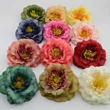9cm Artificial flowers peony flowers painting the living room European-style fake silk flower floral decoration flower roses(China)