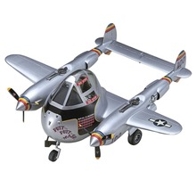 OHS Hasegawa 60136 Q Versin P38 Lightning Egg Plane Assembly Airforce Model Building Kits(China)