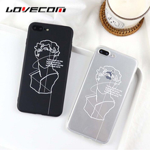 LOVECOM Phone Case For iPhone 6 6S 7 8 Plus Fashion David character avatar Back Cover Soft TPU Cases Hot Sale(China)