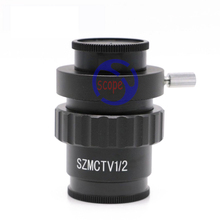 FYSCOPE 0.5X C-mount Lens Adapter 1/2 CTV Adapter for SZM Video Camera Trinocular Stereo Microscope Camera Accessories