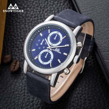 Fashion Big Dial Watches Luxury Leather Quartz Men Watch High Quality Clock Casual Watches Online Watches Shop(China)
