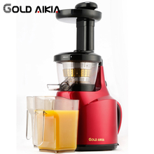 Gold Aikia Slow Auger Juicer Orange Sugar Cane Carrot Lemon Vegetables Fruit Low Speed Household Juicers GDA-800(China)