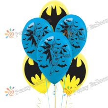 Free Shipping 10pcs/lot  Avengers Hero Balloon Batman latex balloon Children baby shower birthday party supplies toys for kids