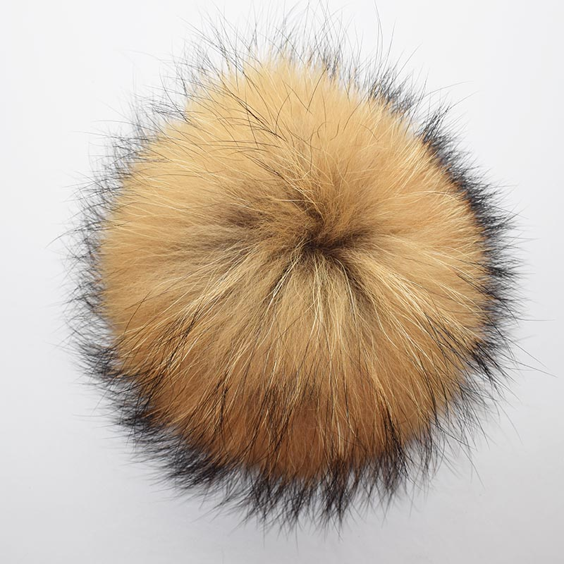 raccoon fur pompom natural