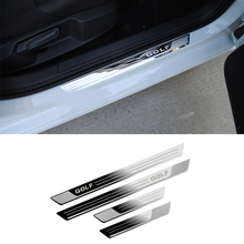 For VW Volkswagen Golf 7 MK7 2012-2017 Car-styling Stainless steel Door sill scuff plate Car accessories Stickers