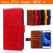 For Case Xiaomi Redmi Note 4 Cover Flip PU Leather & Silicone Wallet Holster Case For Xiaomi Redmi Note 4 Case Note4 Phone <}