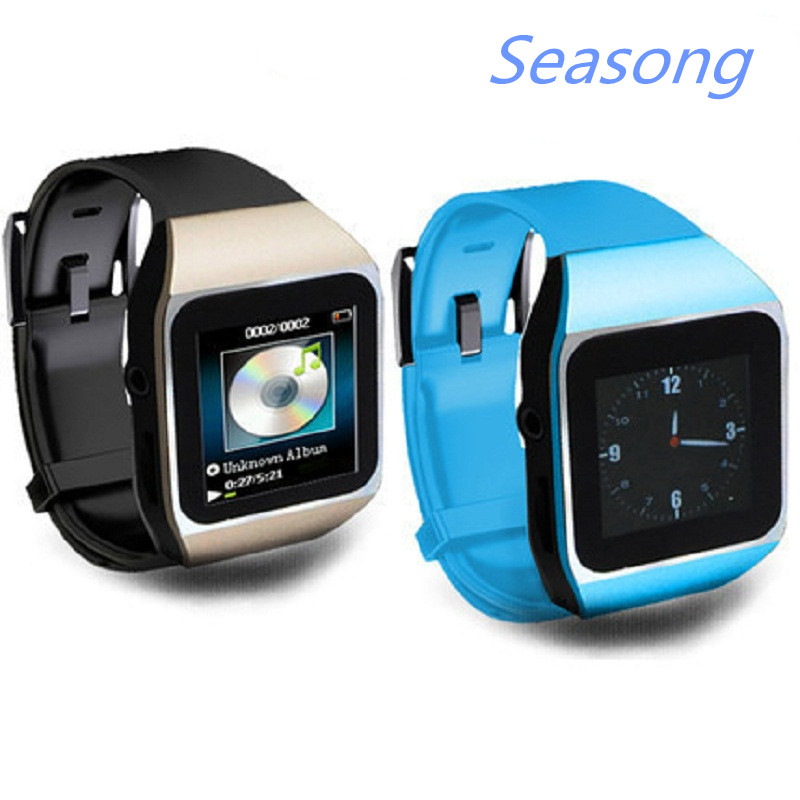 New Arrive Ultrathin Touchscreen Bluetooth Smart Watch mp3 player sport running lossless mp3 players 8GB memory capacity(China (Mainland))