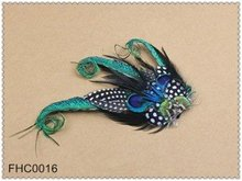 Wedding Hair Accessories 10pcs/lot Fascinator Handcraft Peacock Feather Hairpins or Hairclips Hair Jewelry For Women