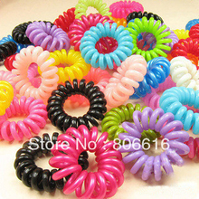 Free Shipping !! 3.5CM 100Pcs Colourful Hair Ring Band Accessory Hair Jewelry Findings & Components