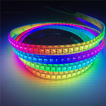1m/2m Ws2812b Individual Flexible Rgb Led Tape 5050 Smd 5v Ip30/Ip65/Ip67 Waterproof Ws2812 Led Strip Rope Light for Living Room