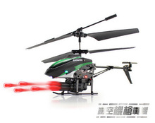 Best Quality WLToys V398 Cool Missile Launching 3.5CH RC Remote Control Helicopter With Gyro Quadcopter christmas gift for boy(China)