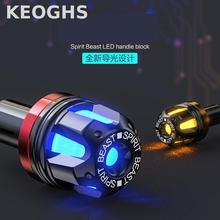 Keoghs Motorcycle Handle Handlebar Led Blocks/bar End Blocks Light High Quality 13-20mm For Honda Yamaha Kawasaki Suzuki Modify