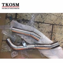 TKOSM Clamp On Mid Pipe CAT Eliminator Race Exhaust For Kawasaki Z1000 2007 2008 2009(China)