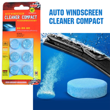 6pcs/pack Brand New Car Solid Wiper Fine Seminoma Wiper Car Auto Window Cleaning Car Windshield Glass Cleaner()