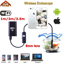 Stardot 8MM Lens Wifi Wireless Endoscope Inspection Camera Waterproof Borescope For Iphone IOS Windows Android 1m 2m 3.5m Cable