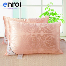 50%Cotton+50%Mulberry Silk Pillow Five-Star Hotel Feather Silk Light Pillows Zero Pressure Memory Neck Health For bedding R-106(China)