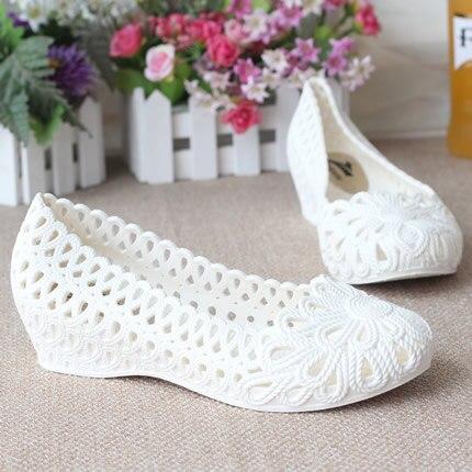 Summer girls wedge jelly shoes beach comfortable Women sandals Wedges Flats High Heels Glass Jelly flats Shoe<br><br>Aliexpress