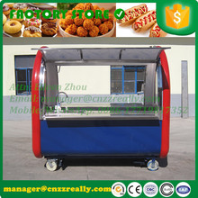 AT-FR220E food cart with non-slip flooring mobile trailer for sale mobile street cart with water sinks 2 big windows(China)