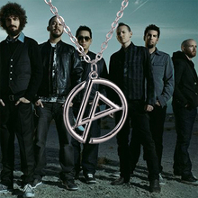 Linkin Park necklace band group logo punk silver color pendant jewelry for men and women wholesale
