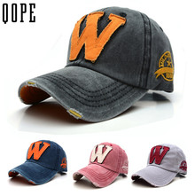 Washed Denim Snapback Hats Autumn Summer cotton embroidery Letter W Men Women Baseball Cap sport Golf casual bone Hockey Caps