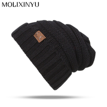 MOLIXINYU 2017 Baby Hats For Girls Knitted Children Winter Caps For Boys Winter Hats Kids Warm Hat Baby Winter Cap Unisex