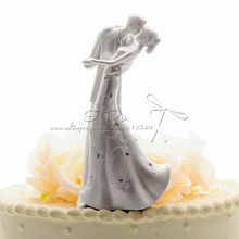 Free Shipping Classic Bride And Groom Wedding Cake Topper Cake Stand Wedding Cake Accessories Wedding Decoration Casamento(China)