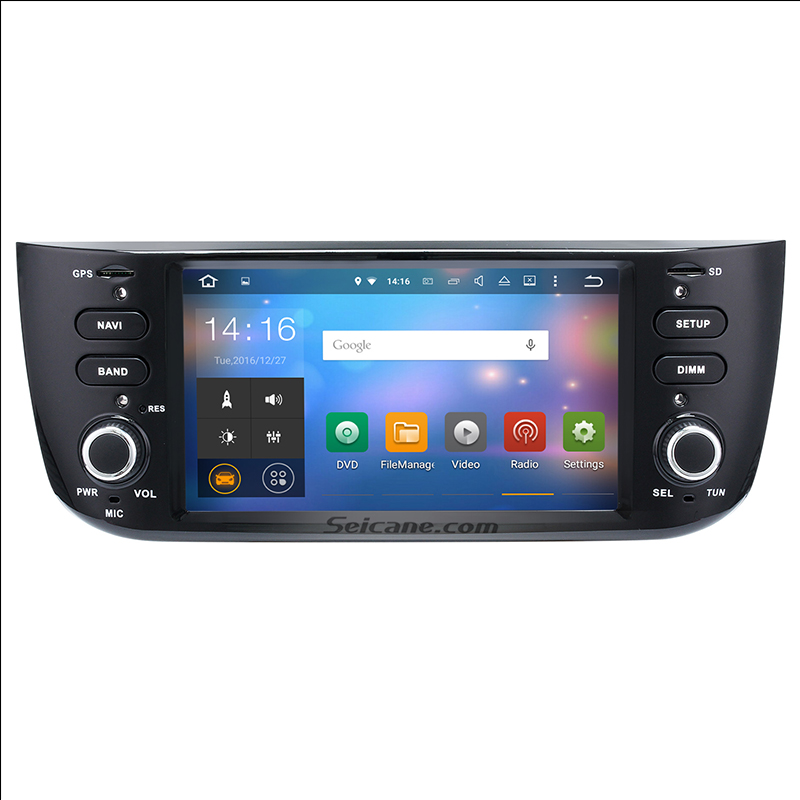 All in one Android 7.1.1 DVD Player Radio GPS Navigation head unit for 2012-2015 Fiat Linea/Punto Support Bluetooth WIFI Audio(China (Mainland))